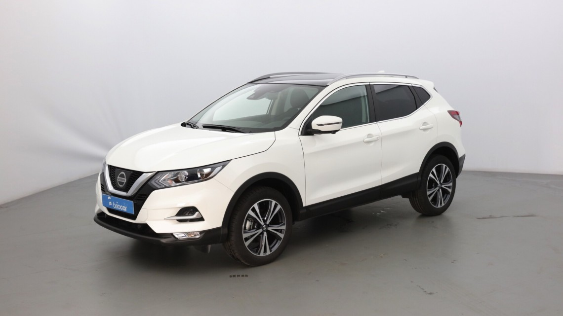 nissan qashqai 1 5 dci 110ch n connecta toit pano blanc arctique occasion 2018 22480. Black Bedroom Furniture Sets. Home Design Ideas