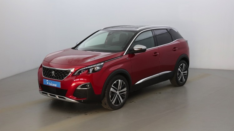 PEUGEOT 3008 2.0 BlueHDi 180ch EAT8 GT +Toit pano +Cuir Rouge Ultimate (S)