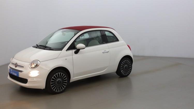 FIAT 500C 1.2 8v 69ch Lounge suréquipée Coloris Pastel Bossa Nova White