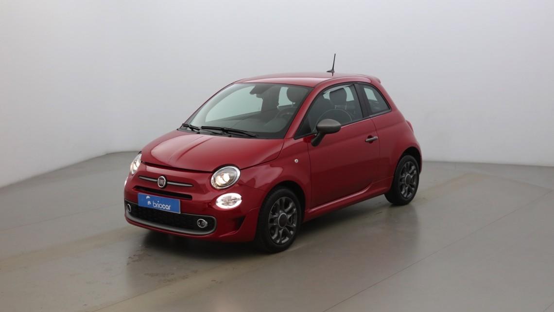 FIAT 500 1.2 8v 69ch Sport Dualogic + Radar de recul suréquipé Color. Pastel Pasodoble Red extra-série