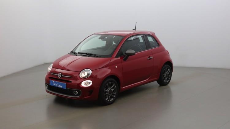 FIAT 500 1.2 8v 69ch Sport Dualogic + Radar suréquipé Color. Pastel Pasodoble Red extra-série